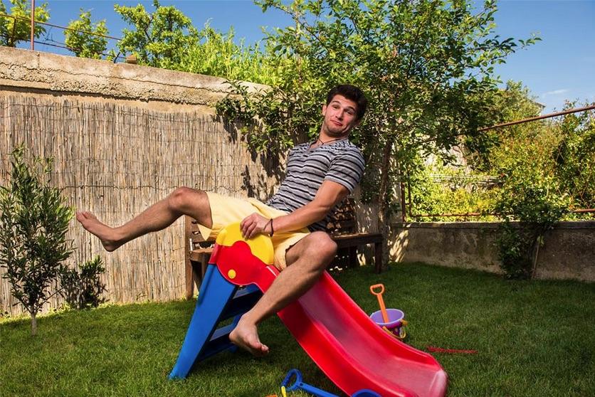 Kevin on slide