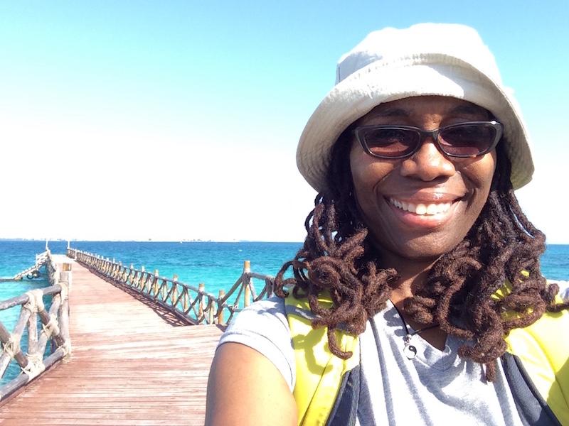 Kim Fox at Prison Island in Zanzibar