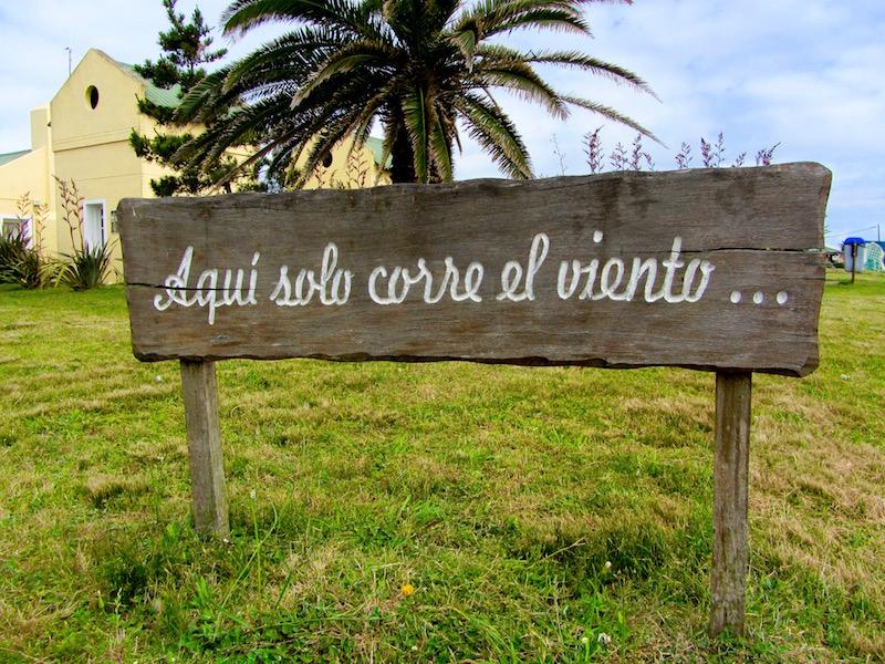 a sign in Jose Ignacio, Uruguay