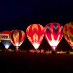 The annual balloon light up at the Green River Festival in Greenfield, Massachusetts