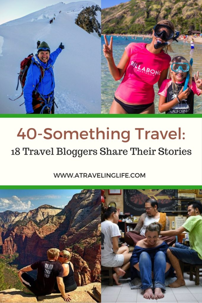 This post celebrates 40-Something Travel by sharing the stories of 18 travel bloggers in their forties. | Travel in your 40s | How traveling in your 40s is different than traveling in your 20s | Stories from 40-something travelers | Solo travel in your 40s | Couples travel in your 40s | Travelers over 40 | #TravelStories #TravelInspiration