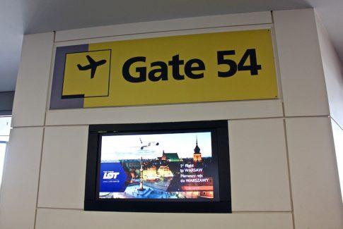 LOT Polish Airlines gate at Newark International AIrport