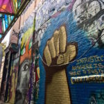 Graffiti Alley in Cambridge, Massachusetts