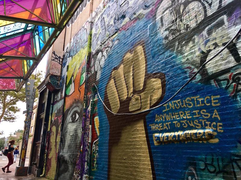 Graffiti Alley in Cambridge, Massachusetts