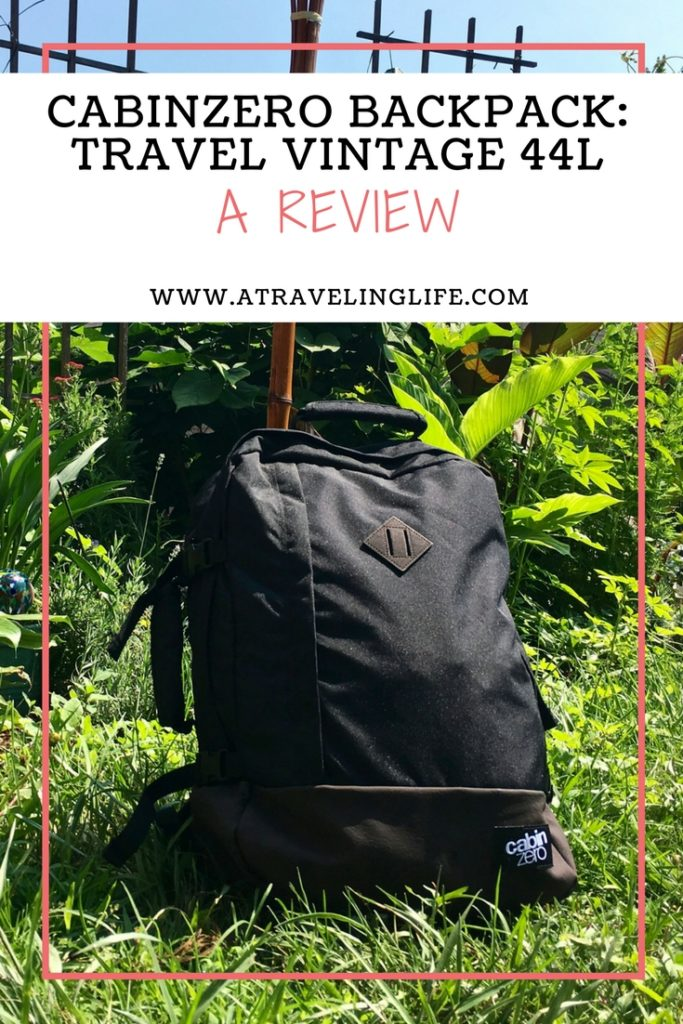 Here is my full review of the 44L CabinZero bag for travelers, including a pros and cons list. | Backpack for travel | Carry on backpack | 44L backpack | Cabin Zero backpack review | Travel gear review | #CabinZero #Backpack #Review