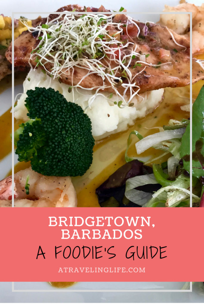Are you looking for the best places to eat in Bridgetown, Barbados? Erika Ayn Finch, a cookbook author and foodie, dishes on where to eat in paradise. | Restaurants in Bridgetown Barbados | Bridgetown Barbados restaurant | Things to do in Barbados | Champers Barbados | Oistins Fish Fry Barbados | #Barbados #Bridgetown #Foodie #TravelTips