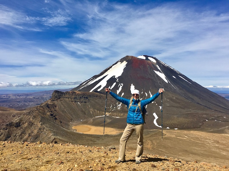 Brianne Miers at Tongariro Alpine Crossing in New Zealand
